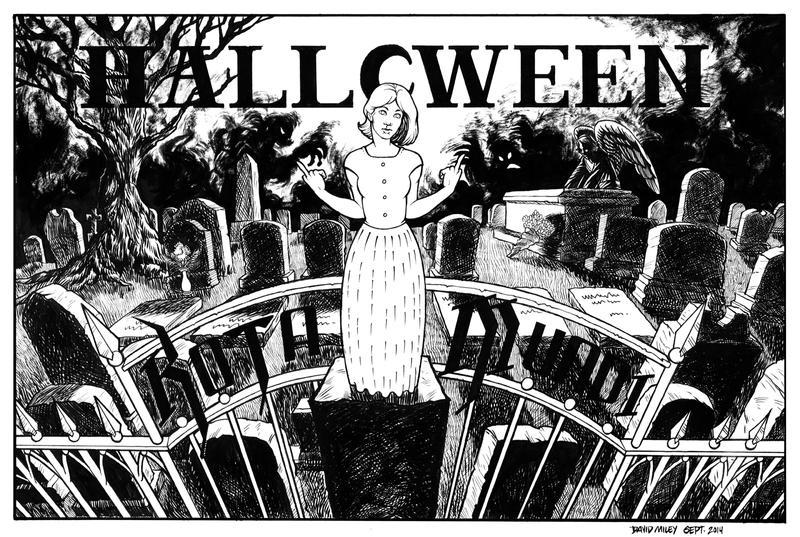 KOTA MUNDI! Halloween Band Poster INKS by DAVIDGMILEY