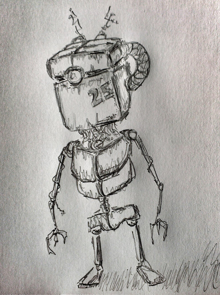 Worker Robot by anthonynemer