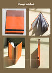 orange elastic book