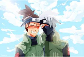 Happy daddy ninjas by C-Dawnav