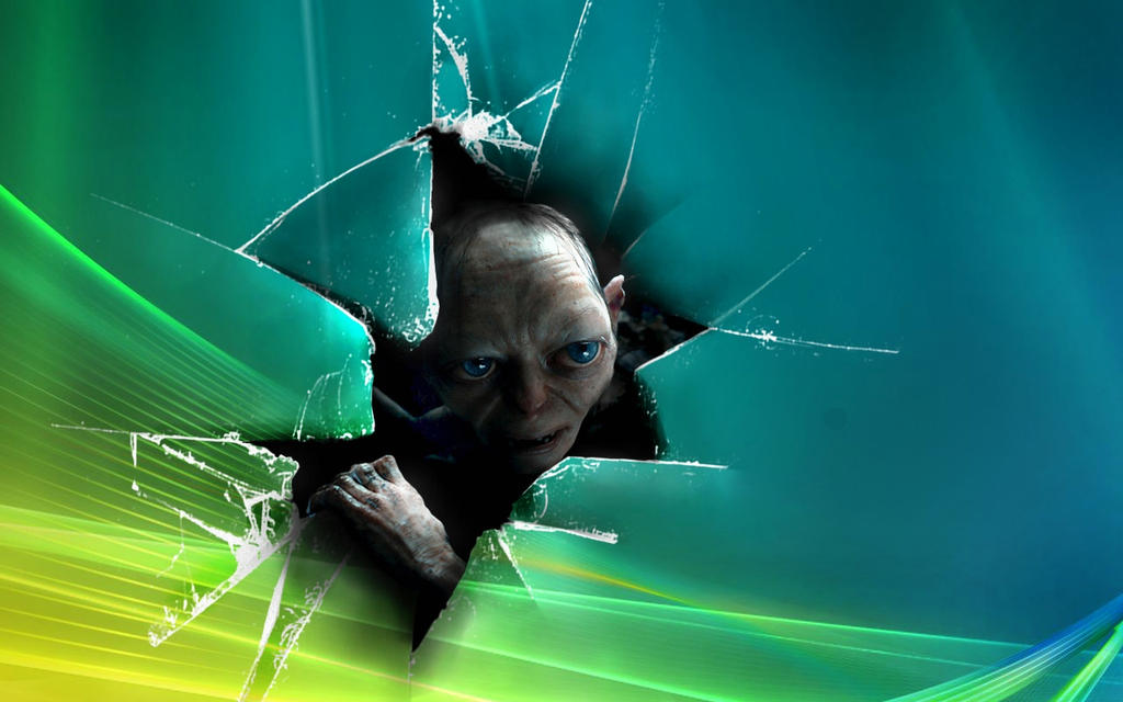 Gollum... Windows - wallpaper by Akinaro