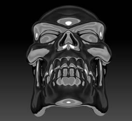 Silver Skull Render 02 by sav8197