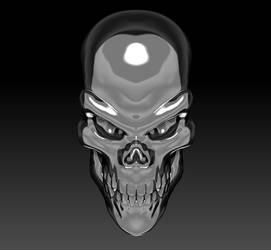 Silver Skull Render 04 by sav8197