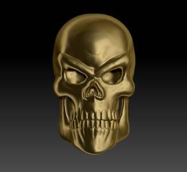 Gold Skull Render 01 by sav8197