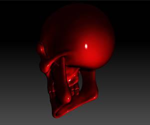 Evil Skull Render 01 by sav8197