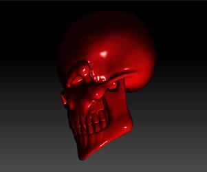Evil Skull Render 02 by sav8197