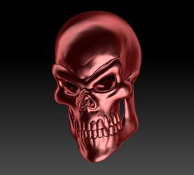 Golden Red Skull Render 01 by sav8197
