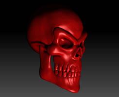 Evil Skull Render 03