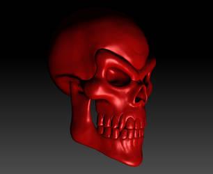Evil Skull Render 03 by sav8197