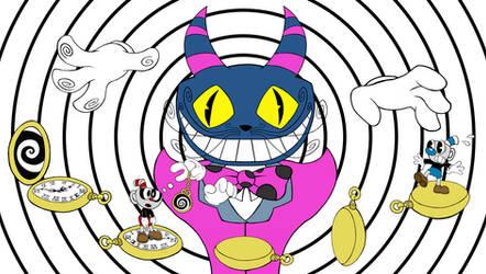 Cuphead Boss The Odd Cat by sav8197