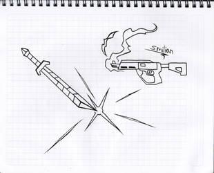 Weapon and Gun concept art by sav8197
