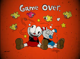 Cuphead Game Over Screen
