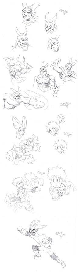 My Hero Academia Sketches