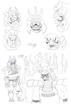 Oni Samurai Sketches