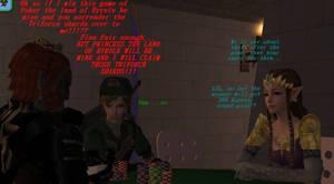Sims 2- GANON VS LINK VS ZELDA, POKER!!!!