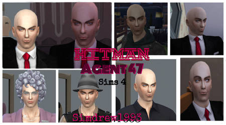 Agent 47 The Hitman - Sims 4 - by Simdrew1993 by Simdrew1993