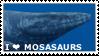 Mosasaurs Stamp by Naragon