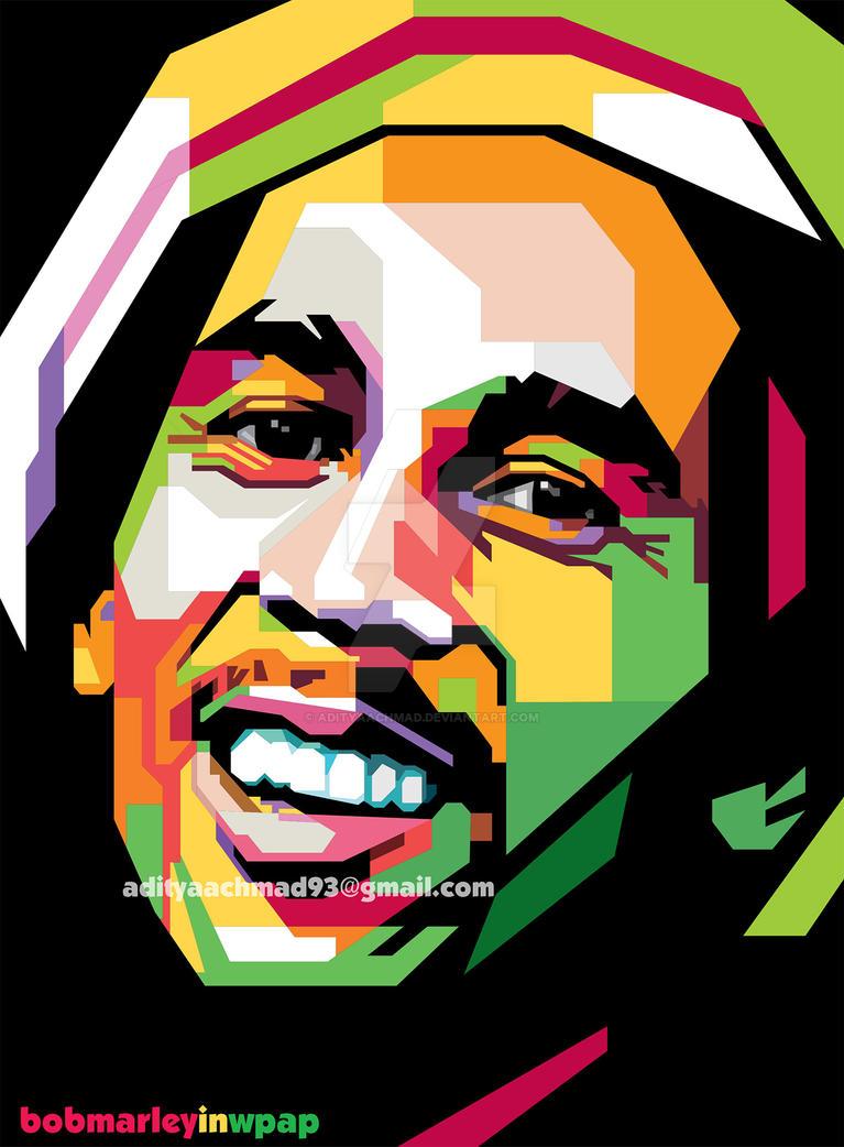 Bob Marley Pop Art Style By Adityaachmad