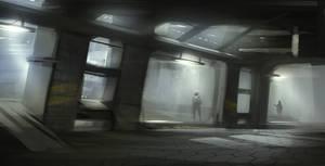 Sci-fi city guards