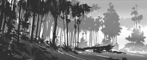 Forrest sketch 4 by YoBarte