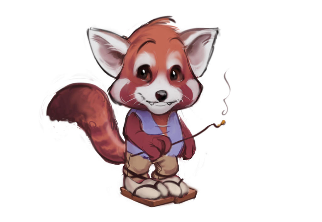 Red panda concept by YoBarte