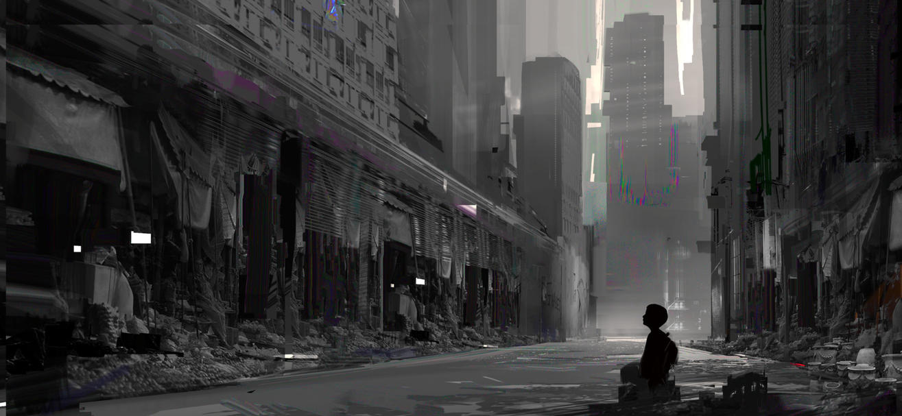 Boy in the city by YoBarte