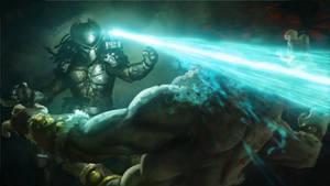 Mortal Kombat X: Predator kills Goro.