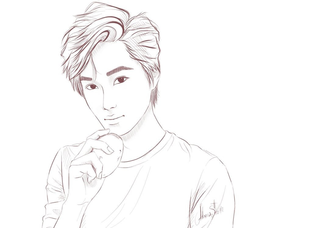 Coloring Book Exo Exo Coloring Pages Exo Kai Chibi