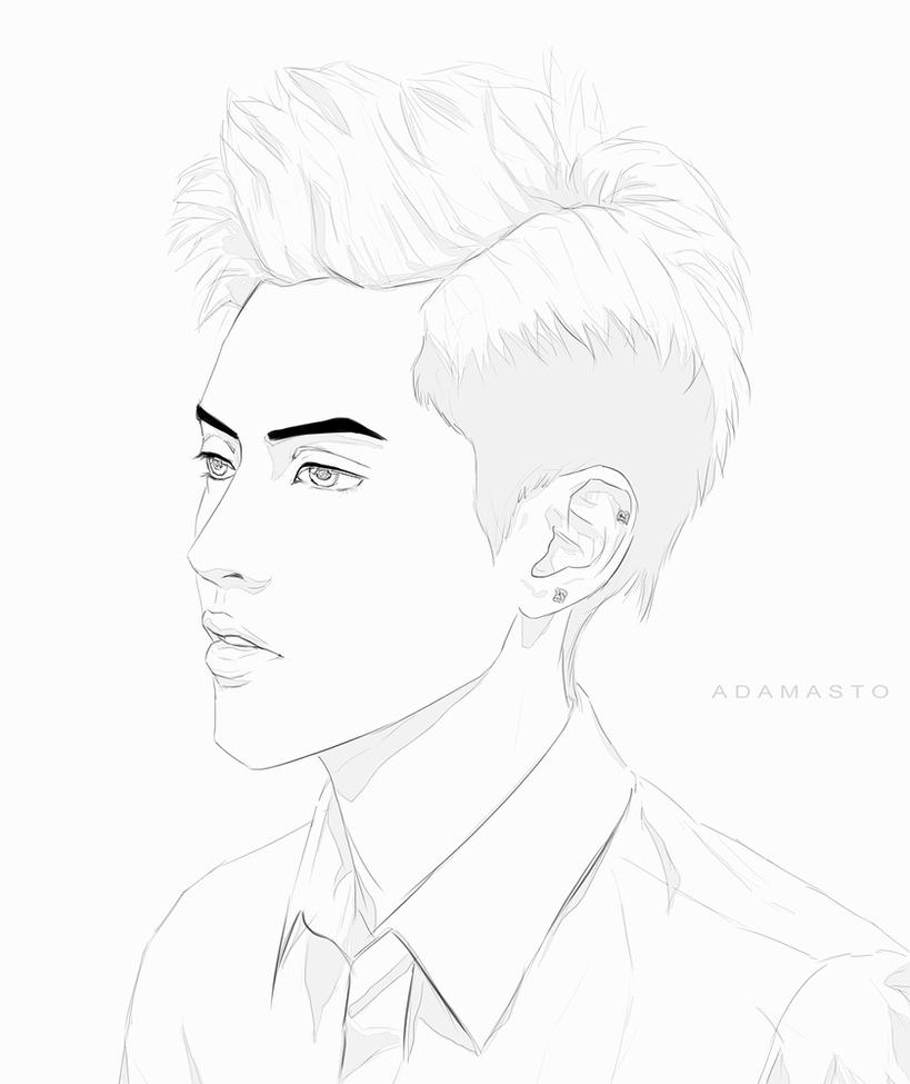 exo coloring pages   Mobile/exo Sehun Coloring Pages