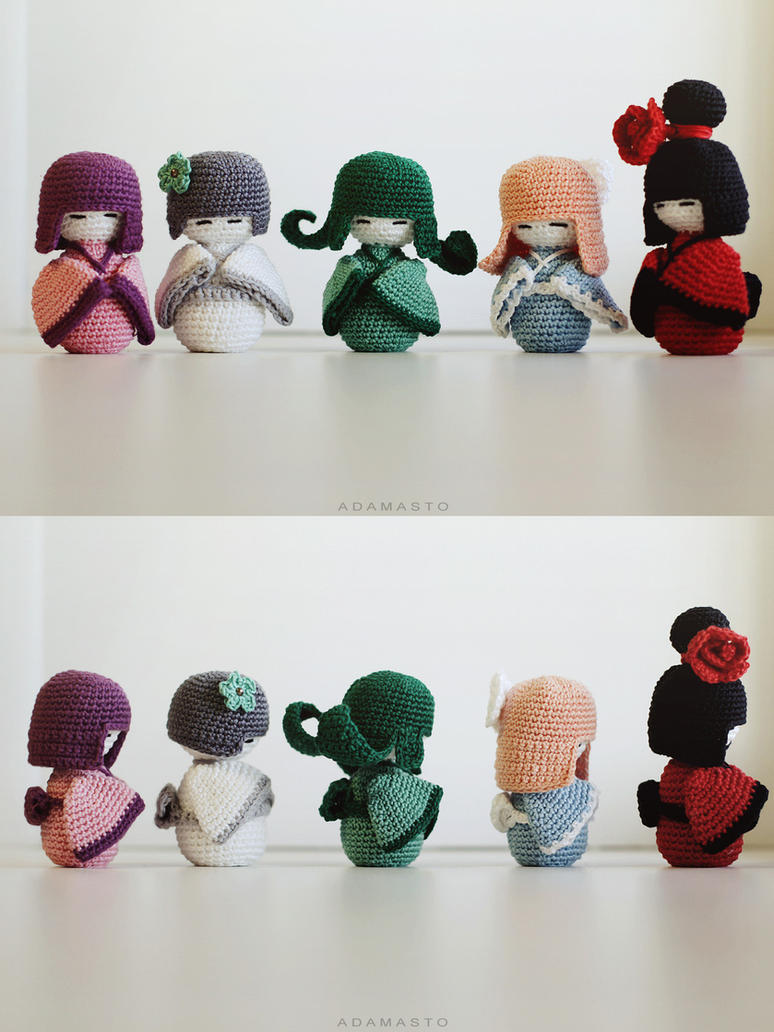Crochet kokeshi by AdamaSto on DeviantArt