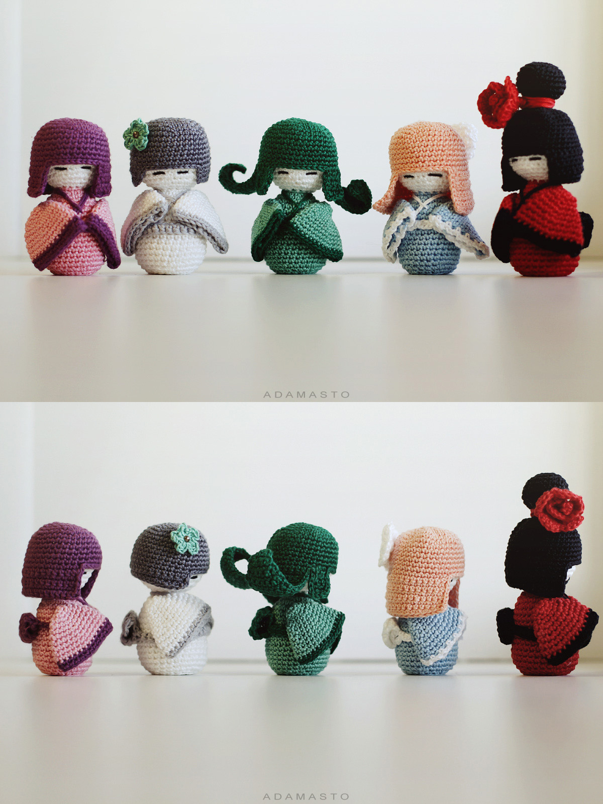 Amigurumi Rose Pattern Free : Crochet kokeshi by AdamaSto on DeviantArt