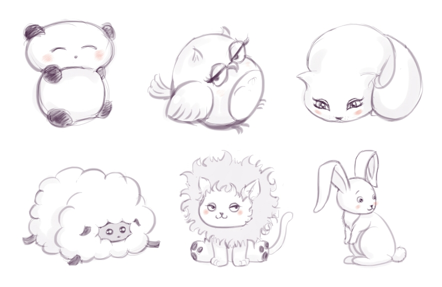 The gallery for --> Cute Chibi Animal Drawings