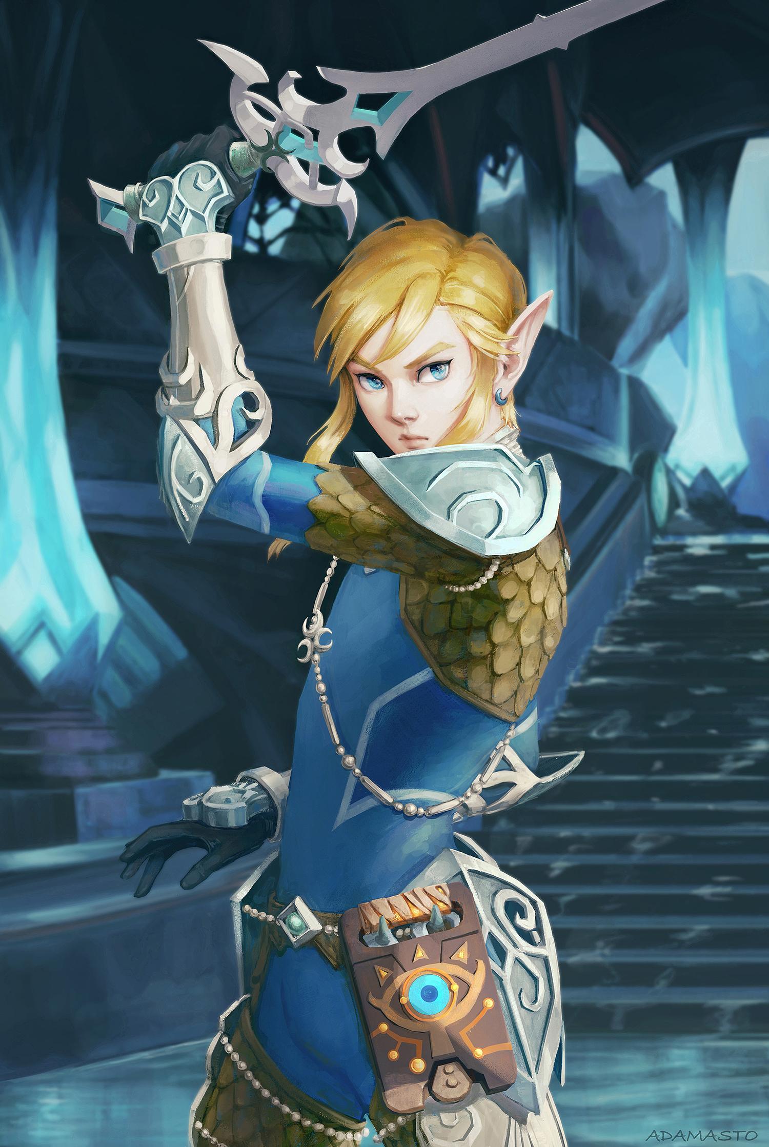 Link The Legend Of Zelda Breath Of The Wild By Adamasto