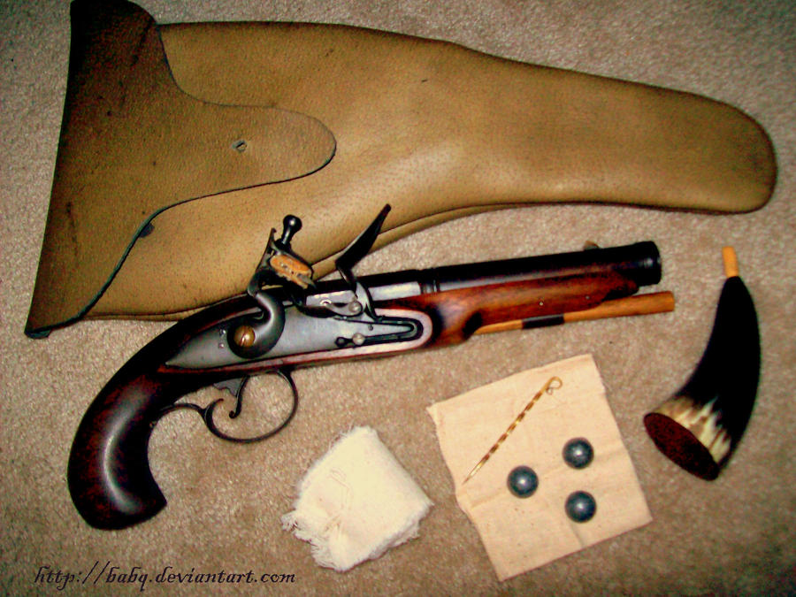 Flintlock Pistol and Holster by BaBQ