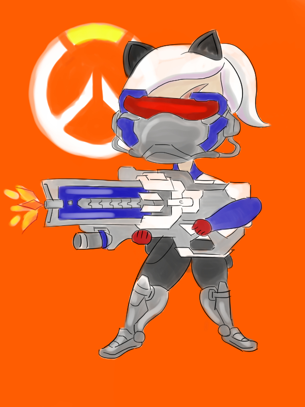 Soldier 76 Queen Belikov Chibi by fre-akinfra-nk