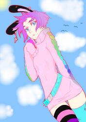 Rika dono Punkie Bunny colored by AngieTheInsaneCat83