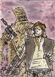 Han Solo and Chewbacca by SpencerPlatt