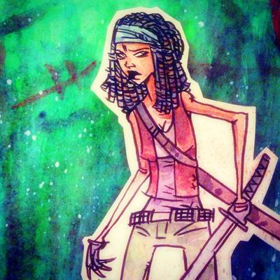 Michonne TWD by SpencerPlatt