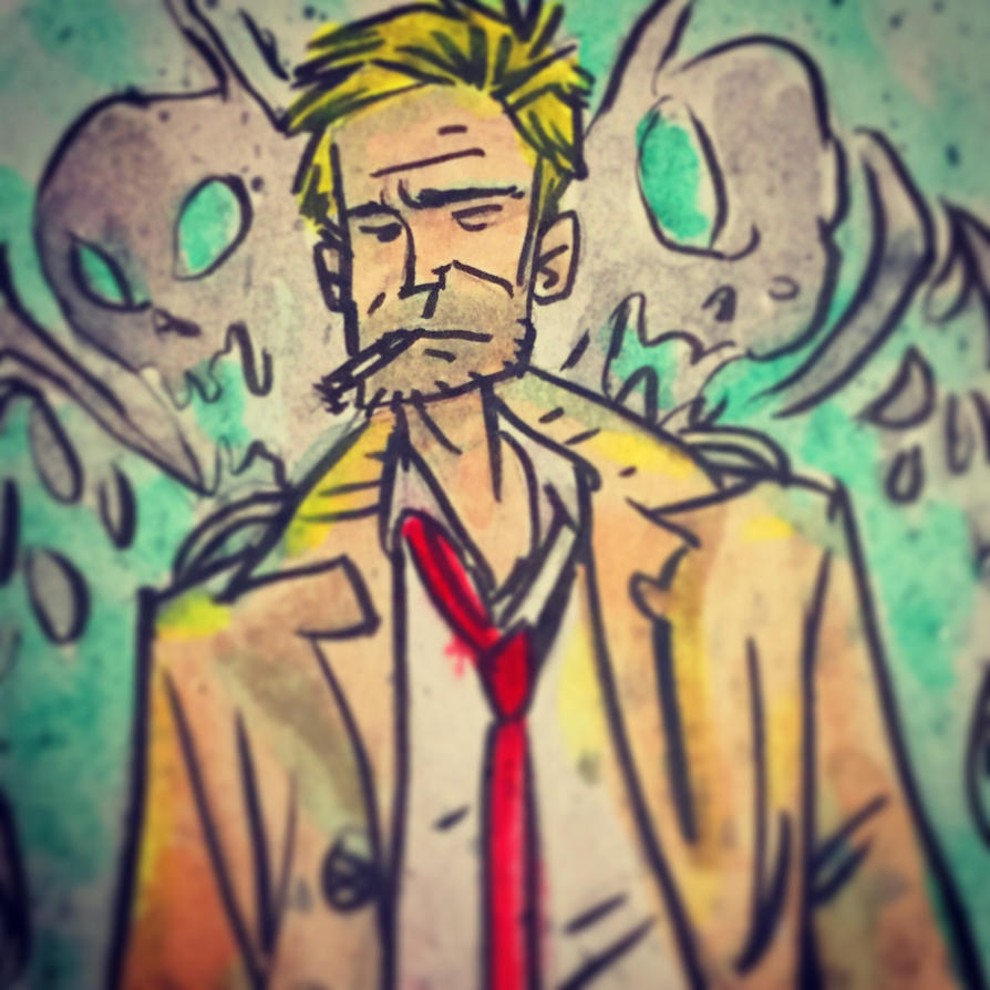 John Constantine sketch card by SpencerPlatt