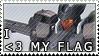I Love My Flag Stamp by RenaInnocenti