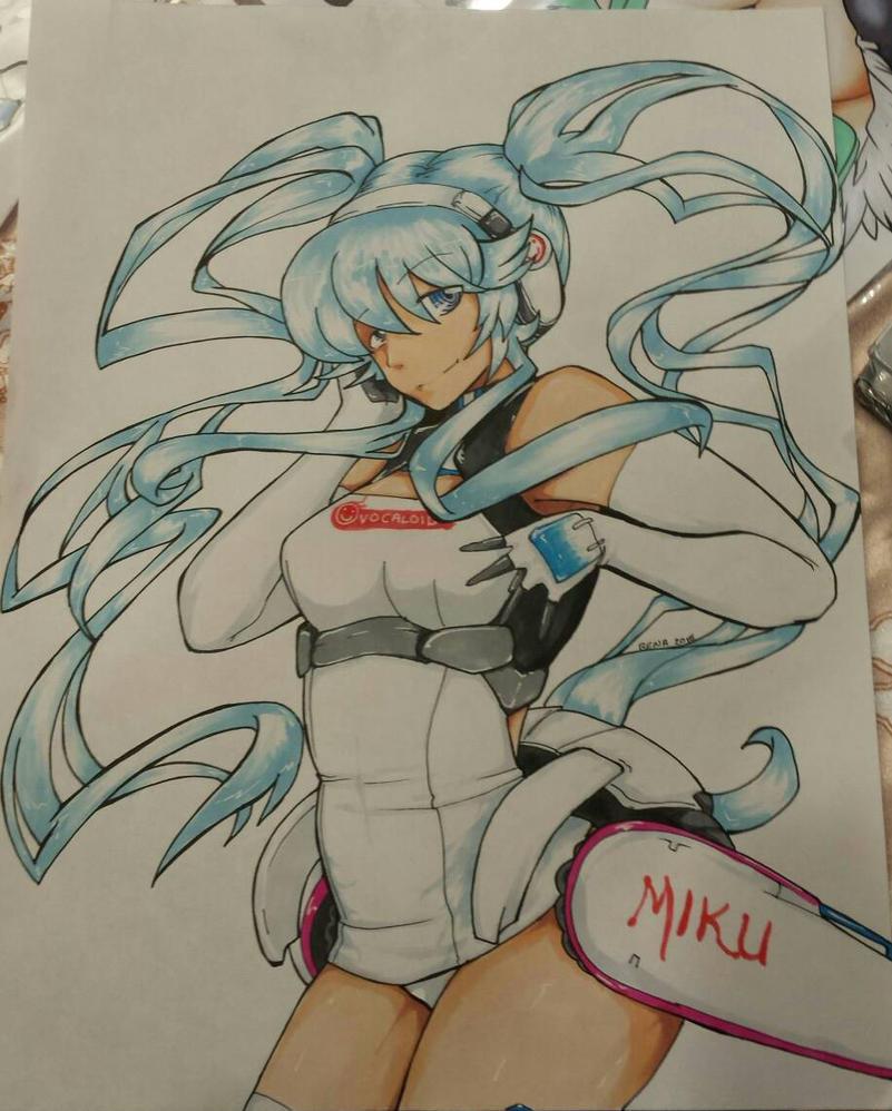 2014 Miku wip by RenaInnocenti