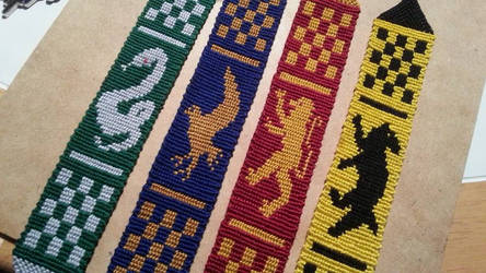 Hogwarts Bookmark Entire Set by DoktorJK