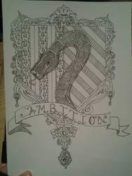 Slytherin Crest Coloring Page by DoktorJK