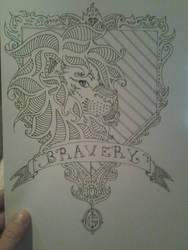 Gryffindor Crest Coloring Page by DoktorJK