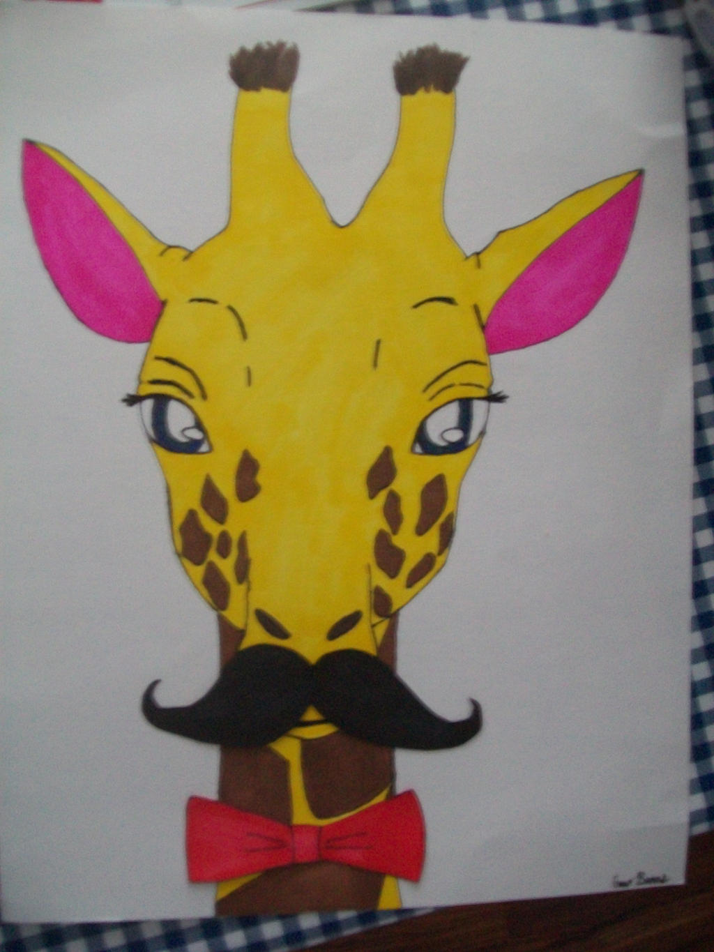 Mustached Giraffe by TimidLion