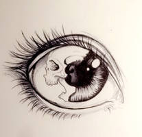Skull Eye by laureheline