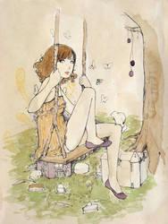 Swinging Daisies by ryugurl0083