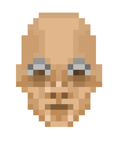 pixel dude in steel glasses by StepanAvdeeff