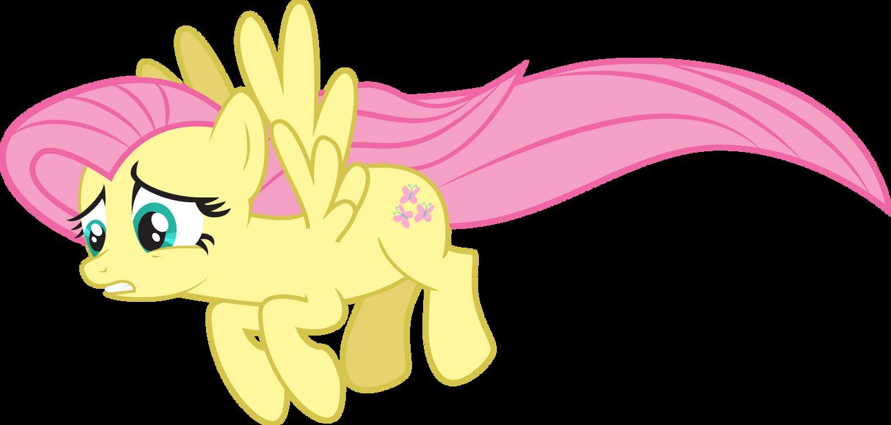 fluttershy flying sad