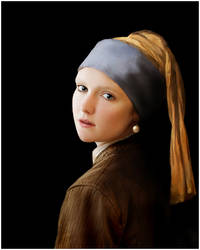 Girl With a Pearl Earring by justinblackphotos